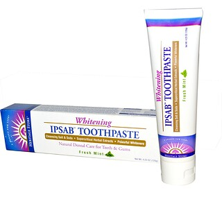 Heritage Store, IPSAB, Dentifrice Blanchissant, Menthe Fraîche, 120 g