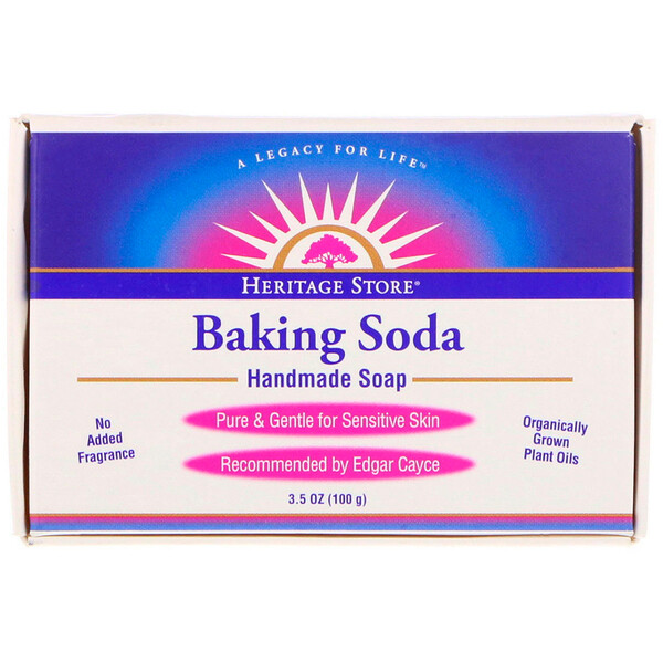 Heritage Store, Baking Soda Handmade Soap, 3.5 oz (100 g)