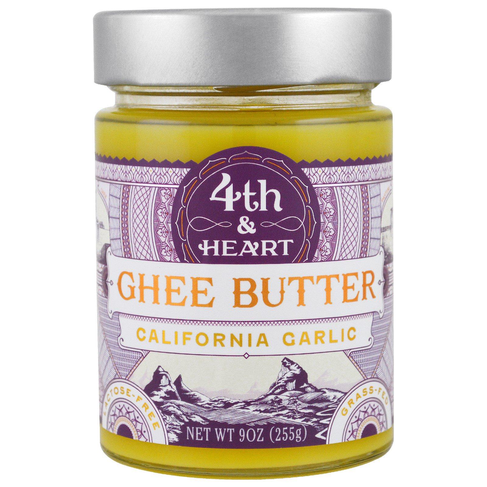 4th & Heart, Масло буйволицы, калифорнийский чеснок, 9 унц. (225 г.)