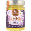 4th & Heart, Ghee Clarified Butter, Grass-Fed, Garlic, 9 oz (255 g)