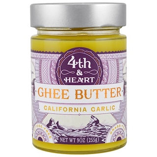 4th & Heart, Manteca de ghee, ajo de California, 9 oz (225 g)