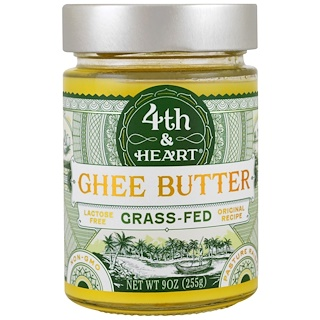 4th & Heart, Ghee Butter, Grass-Fed, Original Recipe, 9 oz (255 g)