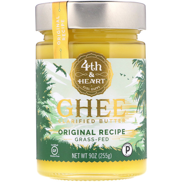 Ghee Clarified Butter, Grass-Fed, Original Recipe, 9 oz (255 g)