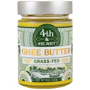 4th & Heart, Масло буйволицы, травяного откорма, оригинальный рецепт, 9 унц. (255 г.)