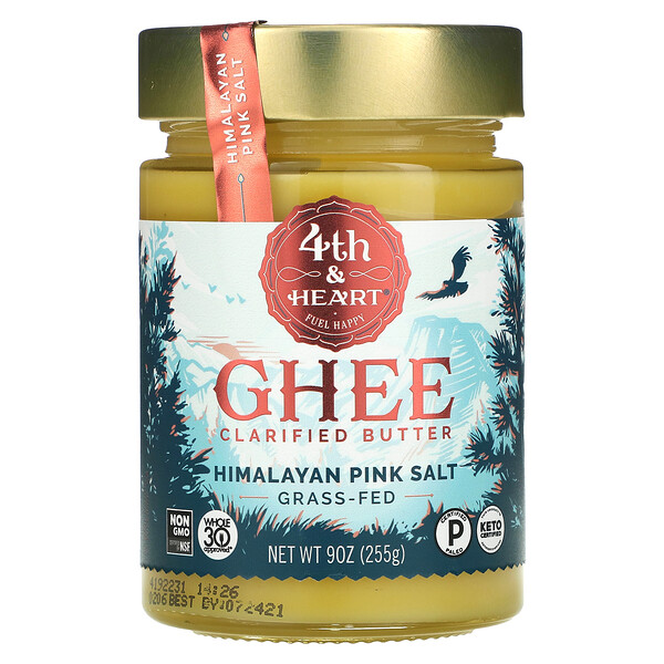 Ghee Clarified Butter, Grass-Fed, Himalayan Pink Salt, 9 oz (225 g)