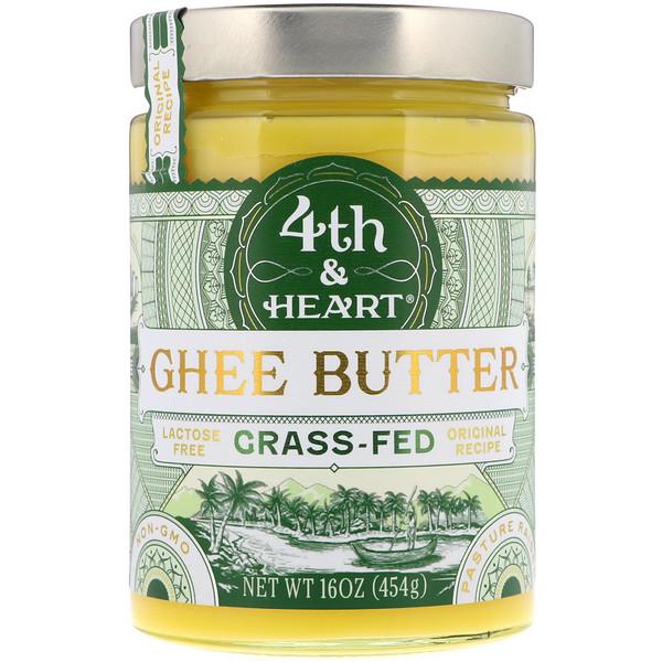 4th & Heart, Ghee Butter, Original Recipe, 16 oz (454 g)