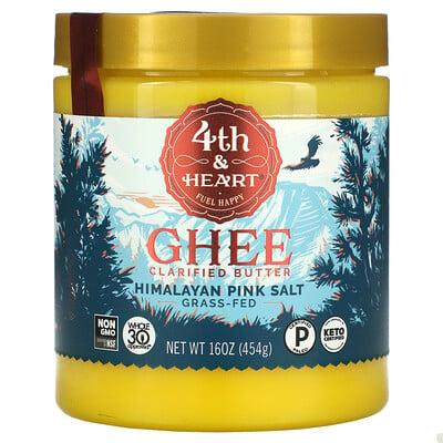 4th & Heart Ghee Clarified Butter, Himalayan Pink Salt, 16 oz ( 454 g)