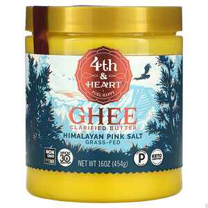 4th & Heart, Ghee Clarified Butter, Himalayan Pink Salt, 16 oz ( 454 g)