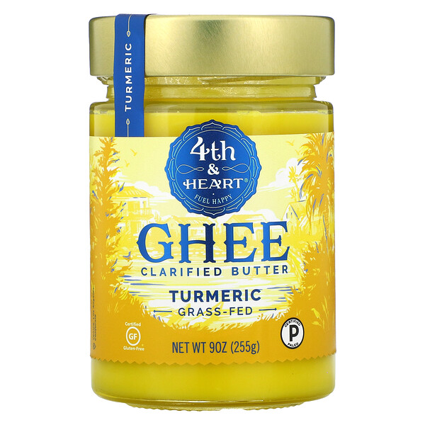 Ghee Clarified Butter, Turmeric, 9 oz (255 g)