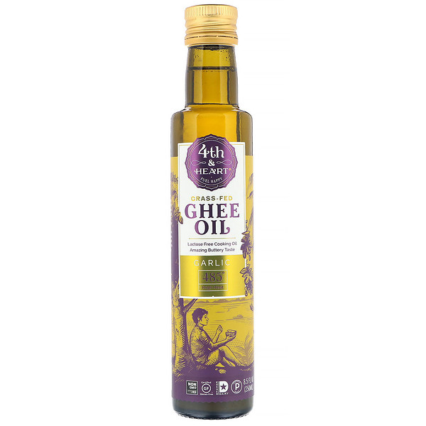 4th & Heart, Ghee Oil, Garlic, 8.5 fl oz (250 ml)