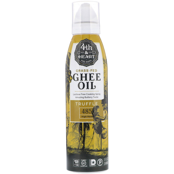 4th & Heart, Ghee Oil Spray, Truffle, 5 fl oz (148 ml) (Discontinued Item)