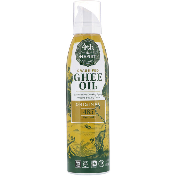 4th & Heart, Ghee Oil Spray, Original, 5 fl oz (148 ml) (Discontinued Item)