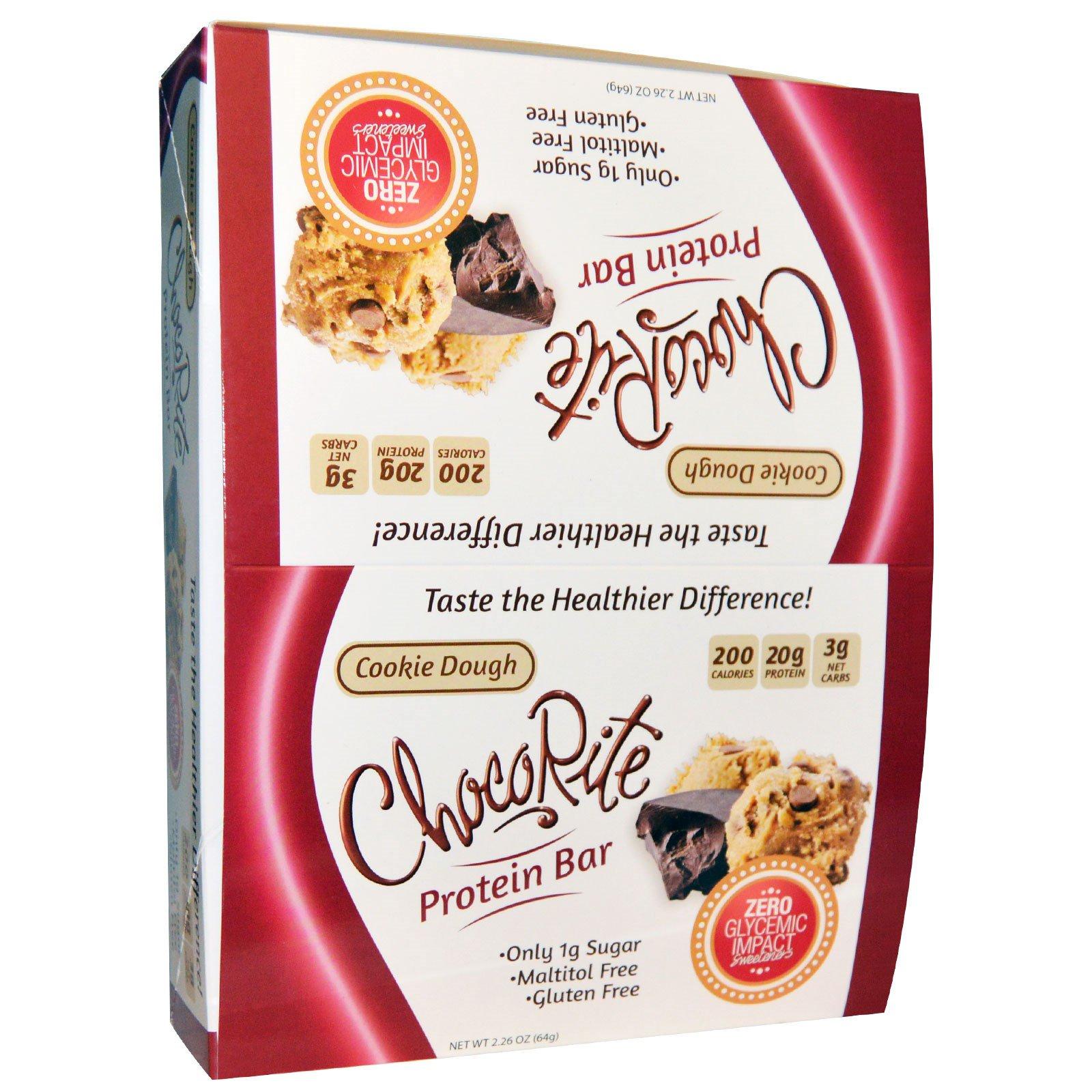 HealthSmart Foods, Inc., ШокоРайт Протеиновые батончики, Мягкое пирожное, 12 батончиков, 2.26 унции (64 г) каждый