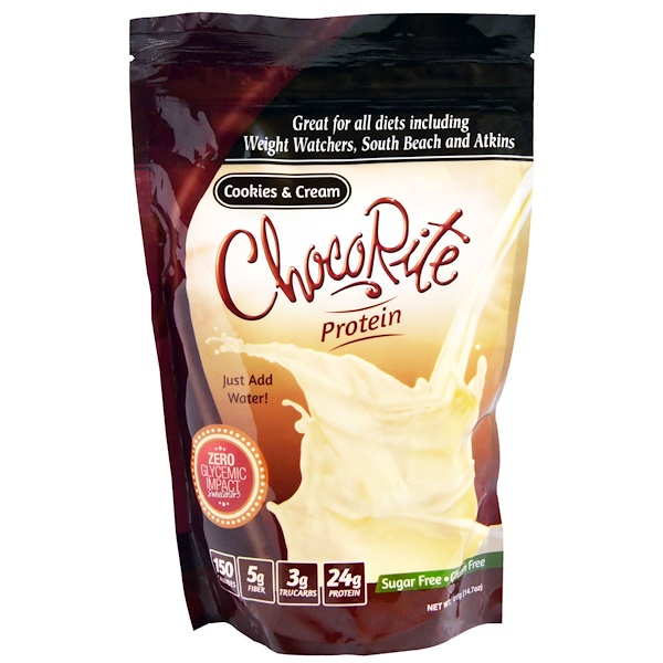 HealthSmart Foods, Inc., ChocoRite Protein, Cookies & Cream, 14.7 oz (418 g)