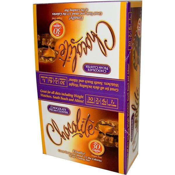 HealthSmart Foods, Inc., Chocolite, шоколадные конфеты с пеканом, 16 упаковок (по 2 конфеты) по 0.84 унций (24 г) (Discontinued Item)