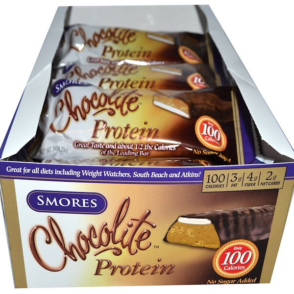 HealthSmart Foods, Inc., Chocolite Protein, Smores, 16 Bars, 1.20 oz (34 g) Each (Discontinued Item)
