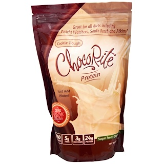 HealthSmart Foods, Inc., ChocoRite Protein, Cookie Dough, 14.7 oz (418 g)