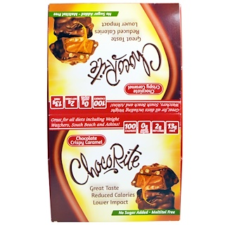 HealthSmart Foods, Inc., Chocorite, Chocolate Crispy Caramel, 16 Count, 1,13 oz (32 g)