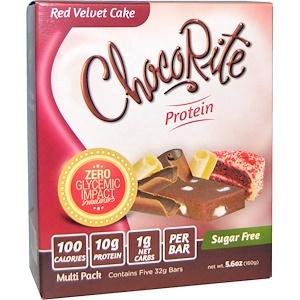 Хэлссмарт фудс, ChocoRite Bars, Red Velvet Cake, 5 Bars, 5.6 oz (32 g) Each отзывы покупателей