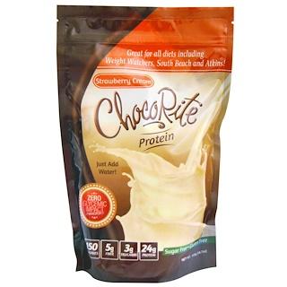 HealthSmart Foods, Inc., ChocoRite Protein, Strawberry Cream, 14.7 oz (418 g)