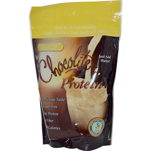 HealthSmart Foods, Inc., Chocolite Protein, Banana Cream, 14.7 oz (418 g)