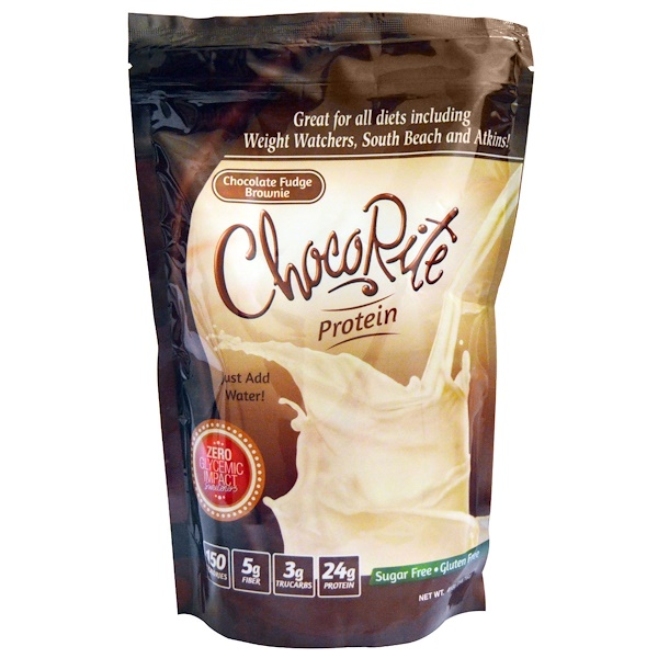 HealthSmart Foods, Inc., ChocoRite Protein, Chocolate Fudge Brownie, 14.7 oz (418 g)