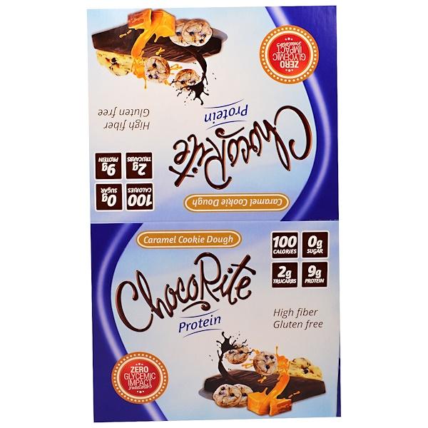 HealthSmart Foods, Inc、, ChocoRite蛋白棒,焦糖餅乾,16塊,1、20盎司(34克)每塊