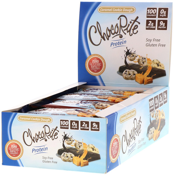 ChocoRite Protein Bar, Caramel Cookie Dough, 16 Bars, 1.20 oz (34 g) Each