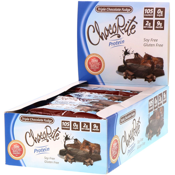 HealthSmart Foods, ChocoRite Protein Bar, Triple Chocolate Fudge, 16 Bars, 1.2 oz (34 g) Each (Discontinued Item)