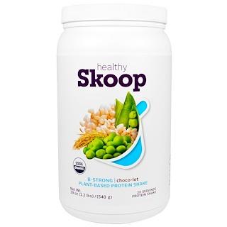 Healthy Skoop, B-Strong, Plant-Based Protein Shake, Chocolate, 19 oz (540 g)