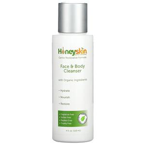 Honeyskin, Face & Body Cleanser, 4 fl oz (118 ml)
