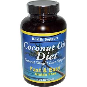 Хэлс Саппорт, Coconut Oil Diet, 120 Softgels отзывы покупателей