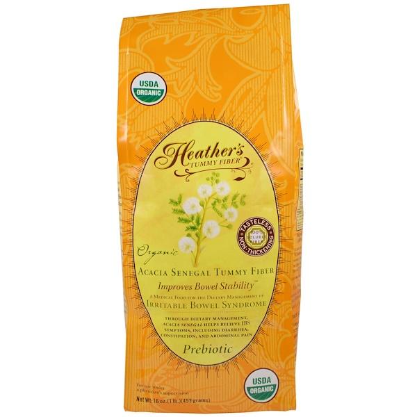 Heather's Tummy Care, Органическая растворимая клетчатка сенегальской акации, 453г