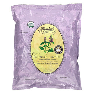 Heather's Tummy Care, Tummy Teas, Organic Peppermint Tummy Tea, Caffeine Free, 16 oz (453 g)
