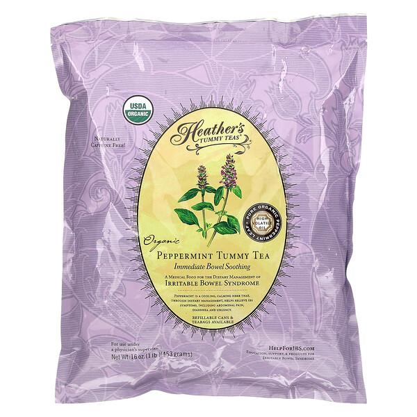 Tummy Teas, Organic Peppermint Tummy Tea, Caffeine Free, 16 oz (453 g)