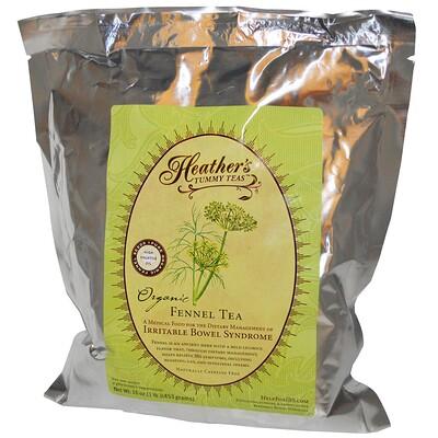 Heather's Tummy Care Tummy Teas, органический фенхелевый чай без кофеина, 453 г