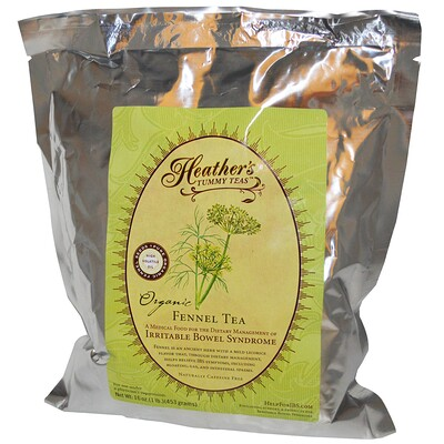 Tummy Teas, органический фенхелевый чай без кофеина, 453 г