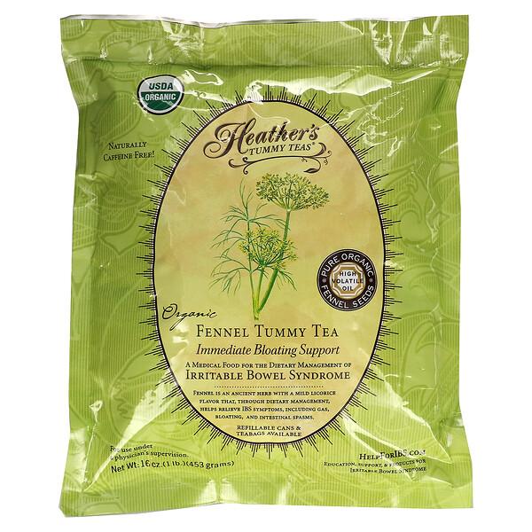Tummy Teas, Organic Fennel Tea, Caffeine Free, 16 oz (453 g)