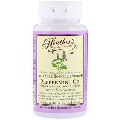 Heathers Tummy Care Масло перечной мяты, синдром раздраженного кишечника, 90мягких таблеток, покрытых кишечнорастворимой оболочкой