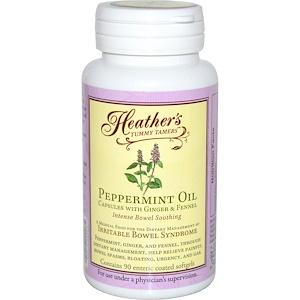 Heather's Tummy Care, успокоительное для кишечника с маслом перечной мяты, 90 гелевых капсул, покрытых оболочкой