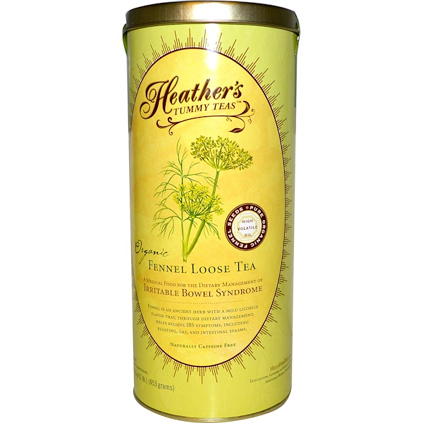 Heather's Tummy Care, Tummy Teas, Fennel Loose Tea, Organic, Caffeine Free, 16 oz (453 g)