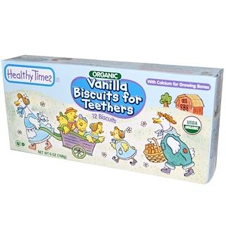 Healthy Times, Galletas de vainilla para mordedores, Orgánicas, 12 galletas, 6 oz (168 g)