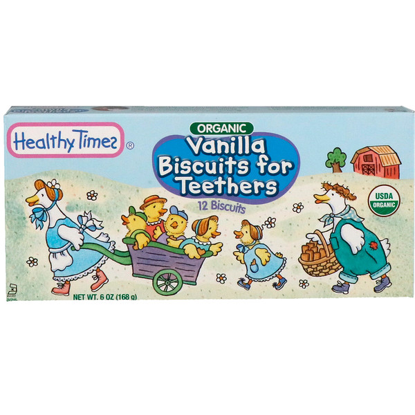 Healthy Times, Organic, Vanilla Biscuits for Teethers, 12 Biscuits, 6 oz (168 g) (Discontinued Item)