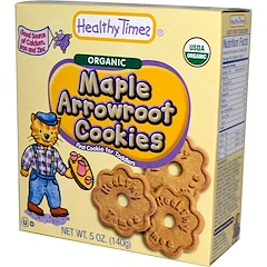 Healthy Times, ヘルシータイムズ, Organic Maple Arrowroot Cookies, 5 oz (140 g)