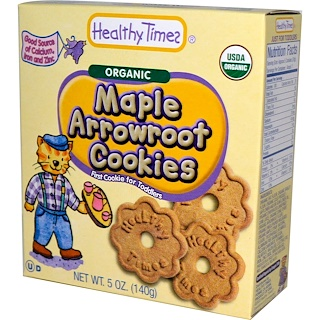 Healthy Times, Organic Arrowroot Cookies, Maple, 5 oz (140 g)