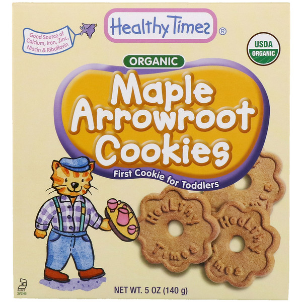 Healthy Times, Organic, Arrowroot Cookies, Maple, 5 oz (140 g) (Discontinued Item)