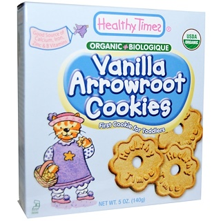 Healthy Times, Organic Arrowroot Cookies, Vanilla 5 oz (140 g)