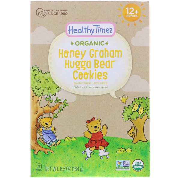Healthy Times, Organic, Hugga Bear Cookies, Honey Graham, 12+ Months, 6.5 oz (184 g) (Discontinued Item)