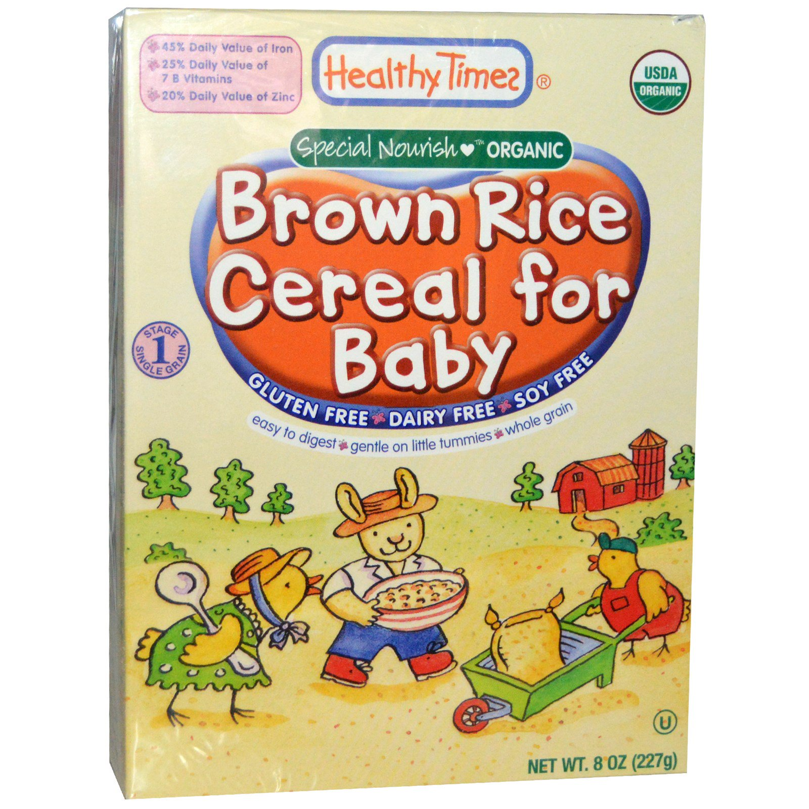 Healthy Times, Organic Cereal For Baby, Brown Rice, 8 Oz