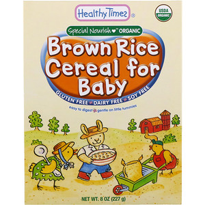 Хэлси Таймс, Special Nourish, Organic Brown Rice Cereal for Baby, 8 oz (227 g) отзывы